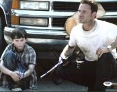 Andrew Lincoln & Chandler Riggs The Walking Dead Signed 11X14 Photo PSA #Z89205