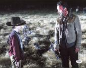 Andrew Lincoln & Chandler Riggs The Walking Dead Signed 11X14 Photo PSA #Z89211