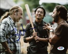 Andrew Lincoln & Greg Nicotero The Walking Dead Signed 8X10 Photo PSA #Z56206