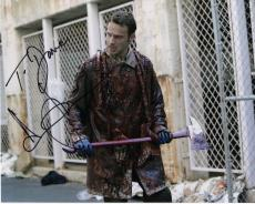 ANDREW LINCOLN HAND SIGNED 8x10 COLOR PHOTO+COA        WALKING DEAD      TO DAVE