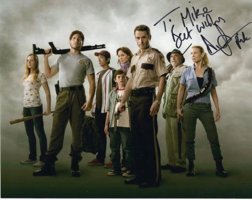ANDREW LINCOLN HAND SIGNED 8x10 PHOTO+COA        THE WALKING DEAD      TO MIKE