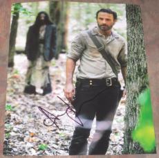 Andrew Lincoln Signed 11x14 Photo Autograph The Walking Dead Proof Season 4 Coa