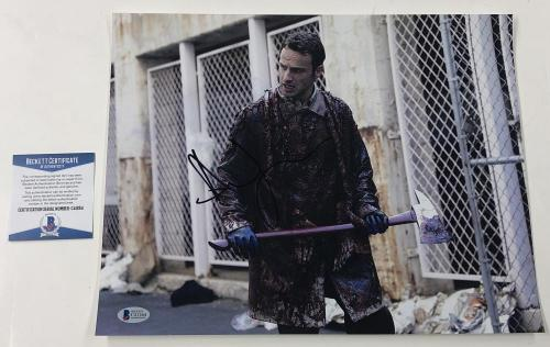 Andrew Lincoln Signed 11x14 Photo The Walking Dead Autograph Rick Beckett Coa A