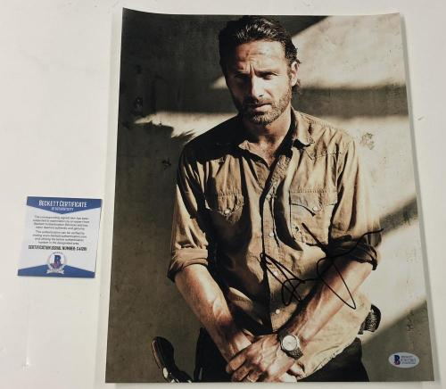 Andrew Lincoln Signed 11x14 Photo The Walking Dead Autograph Rick Beckett Coa B