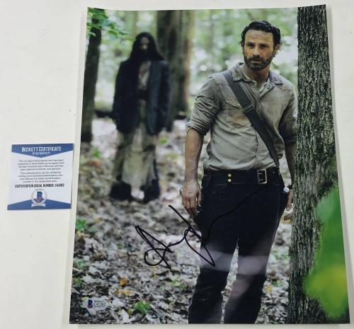 Andrew Lincoln Signed 11x14 Photo The Walking Dead Autograph Rick Beckett Coa C