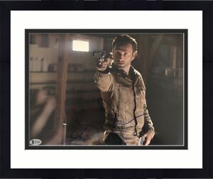 Andrew Lincoln Signed 11x14 Photo Walking Dead Beckett Bas Autograph Auto C