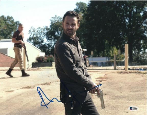Andrew Lincoln Signed 11x14 Photo Walking Dead Beckett Bas Autograph Auto D
