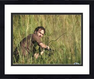 Andrew Lincoln Signed 11x14 Photo Walking Dead Beckett Bas Autograph Auto E