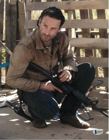 Andrew Lincoln Signed 11x14 Photo Walking Dead Beckett Bas Autograph Auto I