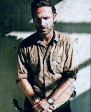 Andrew Lincoln Signed 11x14 Photo w/JSA COA Authentic The Walking Dead Q30588