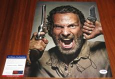 Andrew Lincoln Signed 11x14 The Walking Dead Rick Grimes Love Actually PSA/DNA
