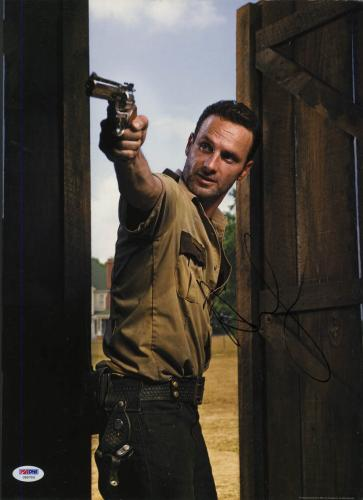 Andrew Lincoln SIGNED 12x16 Poster Rick Grimes Walking Dead PSA/DNA AUTOGRAPHED
