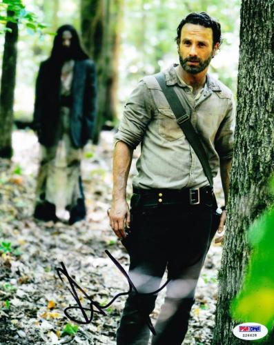 Andrew Lincoln Signed 8x10 Photo The Walknig Dead Autograph Psa/ Dna Proof A