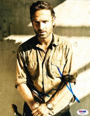 Andrew Lincoln Signed 8x10 Photo The Walknig Dead Autograph Psa/ Dna Proof B
