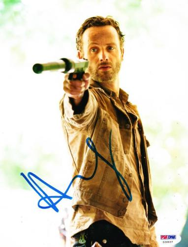 Andrew Lincoln Signed 8x10 Photo The Walknig Dead Autograph Psa/ Dna Proof E