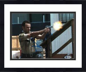 Andrew Lincoln Signed 8x10 Photo Walking Dead Beckett Bas Autograph Auto Coa A