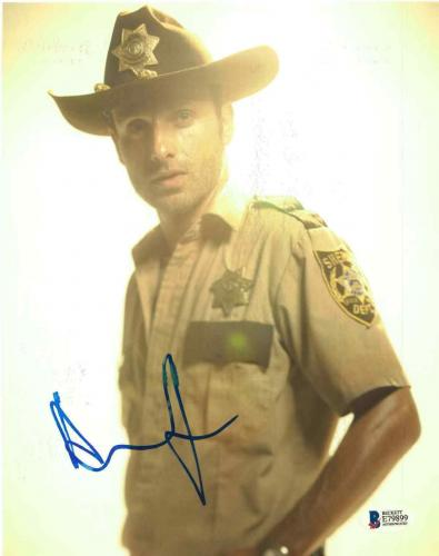 Andrew Lincoln Signed 8x10 Photo Walking Dead Beckett Bas Autograph Auto Coa Ac