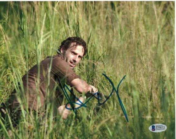 Andrew Lincoln Signed 8x10 Photo Walking Dead Beckett Bas Autograph Auto Coa B