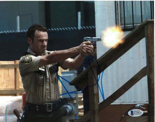 Andrew Lincoln Signed 8x10 Photo Walking Dead Beckett Bas Autograph Auto Coa D