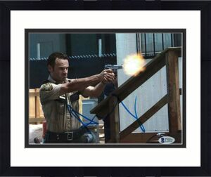 Andrew Lincoln Signed 8x10 Photo Walking Dead Beckett Bas Autograph Auto Coa E