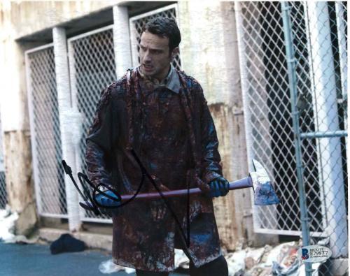 Andrew Lincoln Signed 8x10 Photo Walking Dead Beckett Bas Autograph Auto Coa G