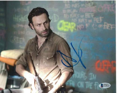 Andrew Lincoln Signed 8x10 Photo Walking Dead Beckett Bas Autograph Auto Coa I