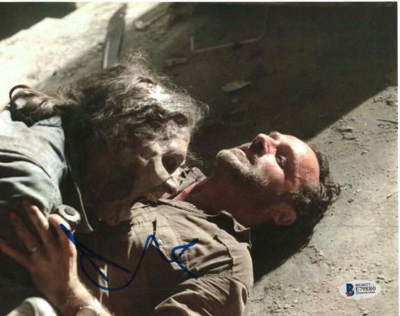 Andrew Lincoln Signed 8x10 Photo Walking Dead Beckett Bas Autograph Auto Coa J