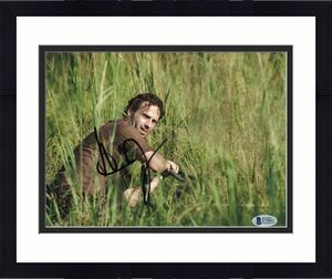 Andrew Lincoln Signed 8x10 Photo Walking Dead Beckett Bas Autograph Auto Coa K