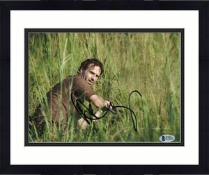 Andrew Lincoln Signed 8x10 Photo Walking Dead Beckett Bas Autograph Auto Coa L