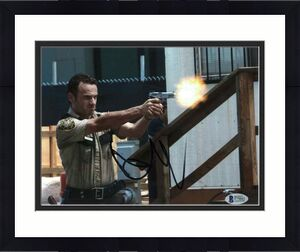 Andrew Lincoln Signed 8x10 Photo Walking Dead Beckett Bas Autograph Auto Coa M