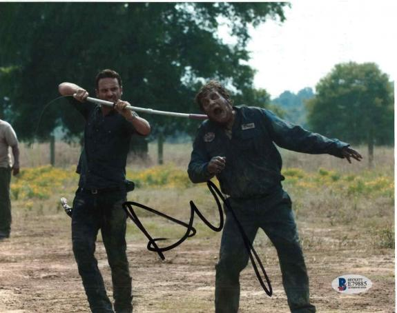 Andrew Lincoln Signed 8x10 Photo Walking Dead Beckett Bas Autograph Auto Coa O