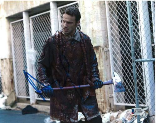 Andrew Lincoln Signed 8x10 Photo Walking Dead Beckett Bas Autograph Auto Coa P