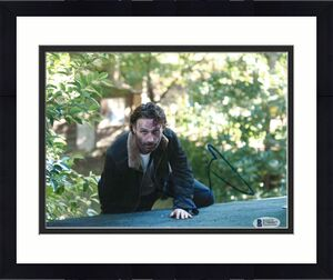 Andrew Lincoln Signed 8x10 Photo Walking Dead Beckett Bas Autograph Auto Coa Q