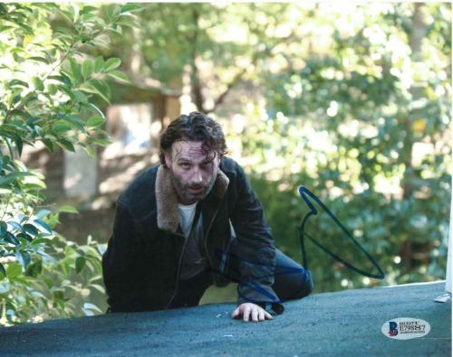 Andrew Lincoln Signed 8x10 Photo Walking Dead Beckett Bas Autograph Auto Coa Q