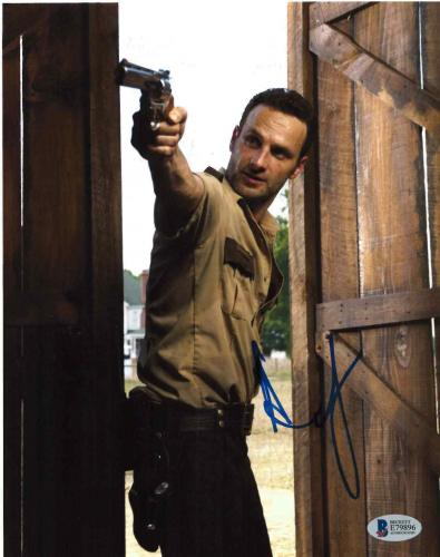 Andrew Lincoln Signed 8x10 Photo Walking Dead Beckett Bas Autograph Auto Coa Z