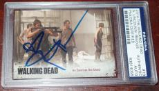 Andrew Lincoln Signed Auto The Walking Dead Card #19 Psa/dna Slab Norman Reedus