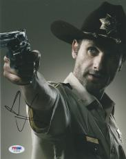 Andrew Lincoln Signed Auto'd 8x10 Photo Psa/dna Ac30128 The Walking Dead Rick