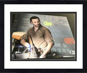 ANDREW LINCOLN SIGNED AUTOGRAPH 8x10 PHOTO THE WALKING DEAD BECKETT BAS COA NY I