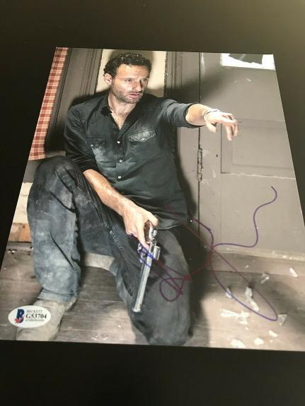 ANDREW LINCOLN SIGNED AUTOGRAPH 8x10 PHOTO WALKING DEAD BECKETT BAS AUTHENTIC X1