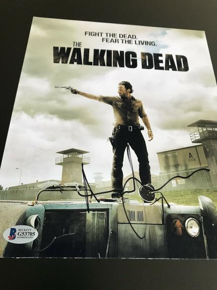 ANDREW LINCOLN SIGNED AUTOGRAPH 8x10 PHOTO WALKING DEAD BECKETT BAS AUTHENTIC X2