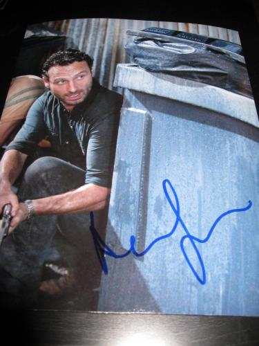 ANDREW LINCOLN SIGNED AUTOGRAPH 8x10 PHOTO WALKING DEAD PROMO IN PERSON COA D