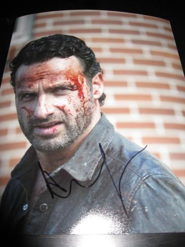 ANDREW LINCOLN SIGNED AUTOGRAPH 8x10 PHOTO WALKING DEAD PROMO IN PERSON COA H