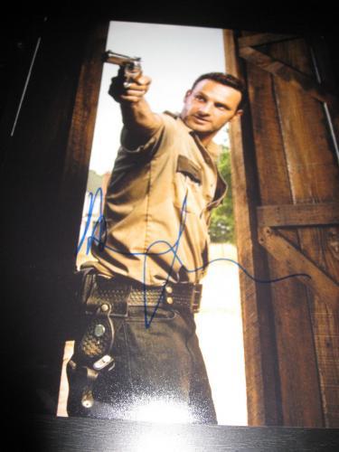 ANDREW LINCOLN SIGNED AUTOGRAPH 8x10 PHOTO WALKING DEAD PROMO IN PERSON COA NY L