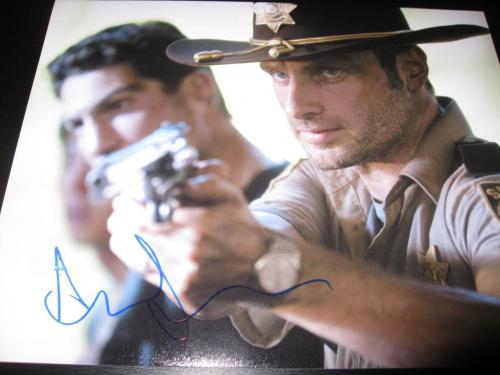 ANDREW LINCOLN SIGNED AUTOGRAPH 8x10 PHOTO WALKING DEAD PROMO IN PERSON COA NY S