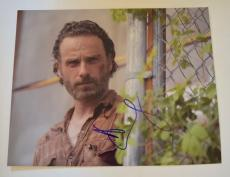 Andrew Lincoln Signed Autographed 11x14 Photo The Walking Dead Rick COA VD