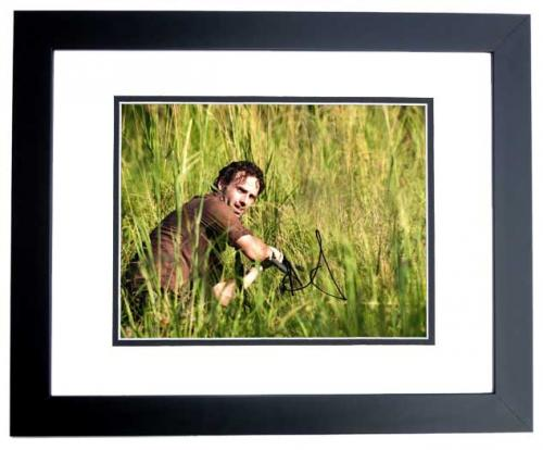 Andrew Lincoln Signed - Autographed The Walking Dead 11x14 inch Photo as Rick Grimes - BLACK CUSTOM FRAME - Guaranteed to pass PSA or JSA