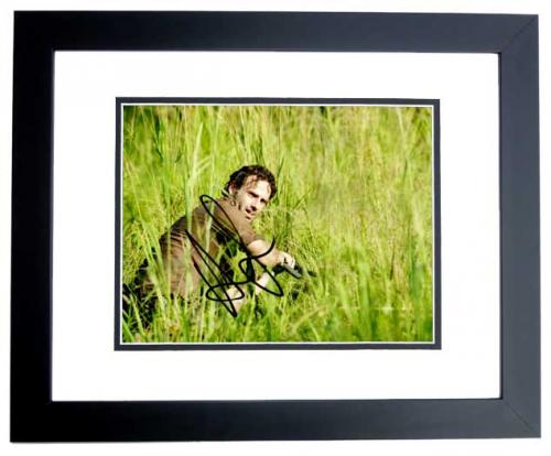 Andrew Lincoln Signed - Autographed The Walking Dead 8x10 inch Photo BLACK CUSTOM FRAME - Guaranteed to pass PSA or JSA - Rick Grimes