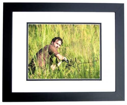 Andrew Lincoln Signed - Autographed The Walking Dead - Rick Grimes 11x14 inch Photo BLACK CUSTOM FRAME - Guaranteed to pass PSA/DNA or JSA