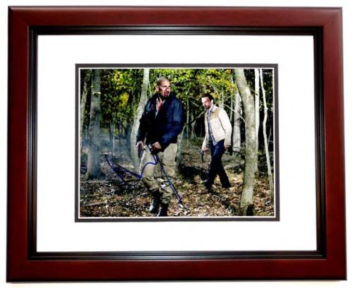 Andrew Lincoln Signed - Autographed The Walking Dead - Rick Grimes 11x14 inch Photo MAHOGANY CUSTOM FRAME - Guaranteed to pass PSA/DNA or JSA