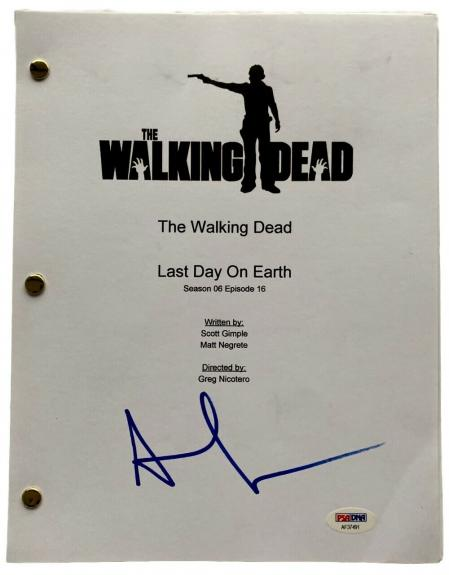 Andrew Lincoln Signed The Walking Dead Last Day On Earth Script PSA AF37491